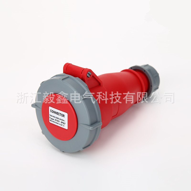 5芯32A 工业防水连接器新型耦合器欧规五孔连接器IP67 2252