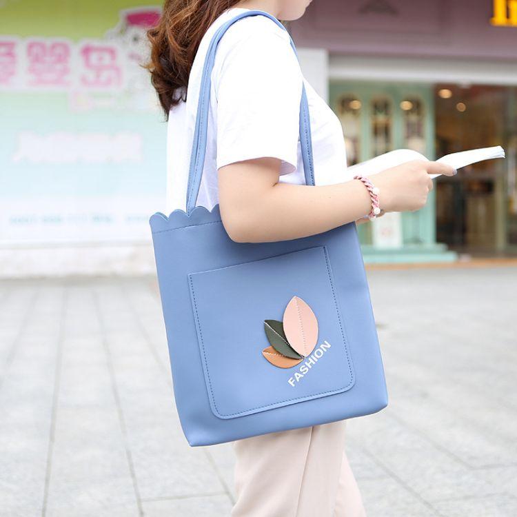 女包时尚斜挎包新款子母大包韩版单肩包托特包休闲包学生包补课袋