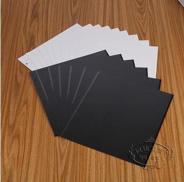 新款 优质黑白卡硬头16寸粘胶相册内页