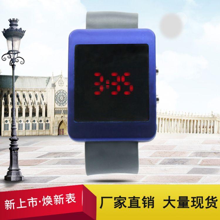 新款LED手表卡通时尚运动电子手表 儿童流行通用塑胶针扣数字腕表