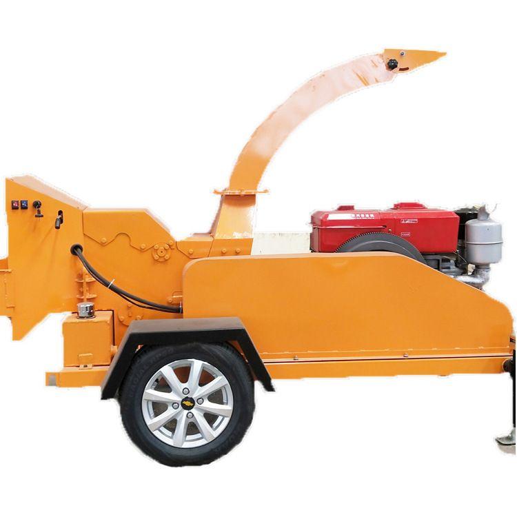 园林专用树枝打碎粉碎机 直径25公分干湿树干树叶 移动树枝粉碎机