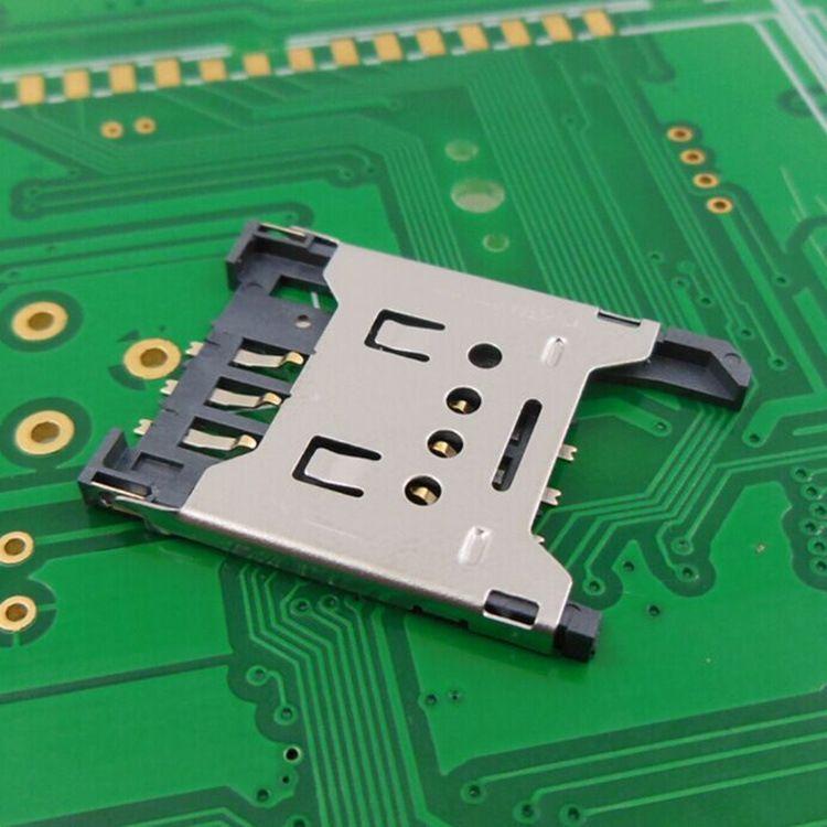 手机SIM卡座-翻盖式SIM卡座-SIM卡座ZJ-2.54-8
