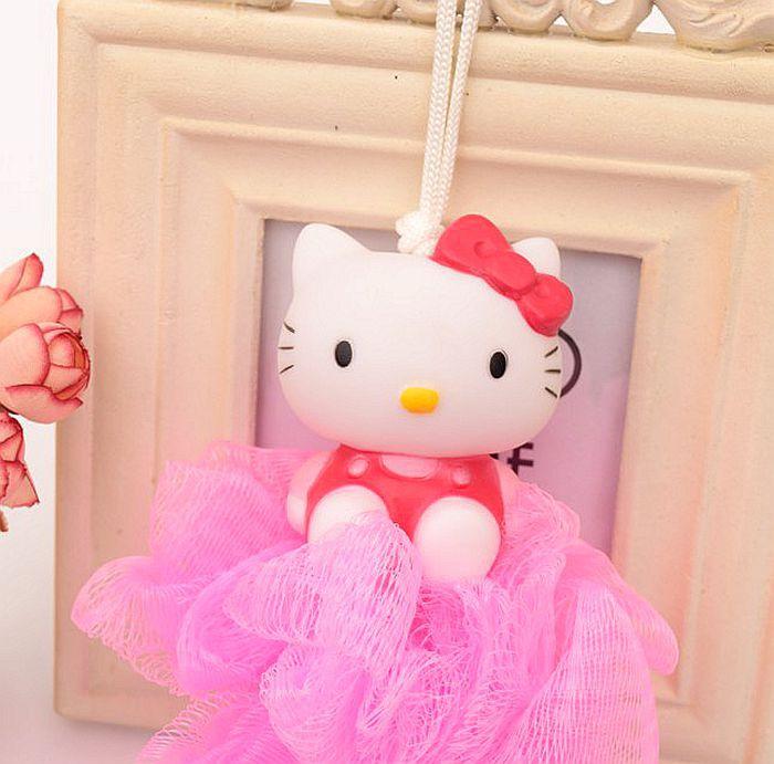 卡通浴球儿童浴花可爱浴擦蝴蝶结凯蒂猫沐浴网