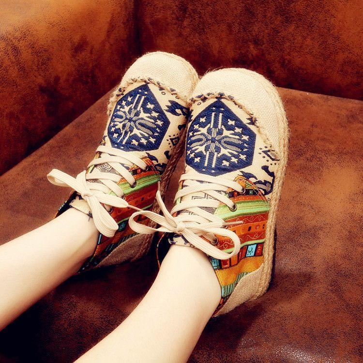 台州民族风女鞋加工高端定制老北京布鞋淘工厂贴牌来图来样生产