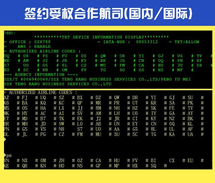 机票分销平台ETERM模拟系统/机票白屏系统/eterm机票加盟代理