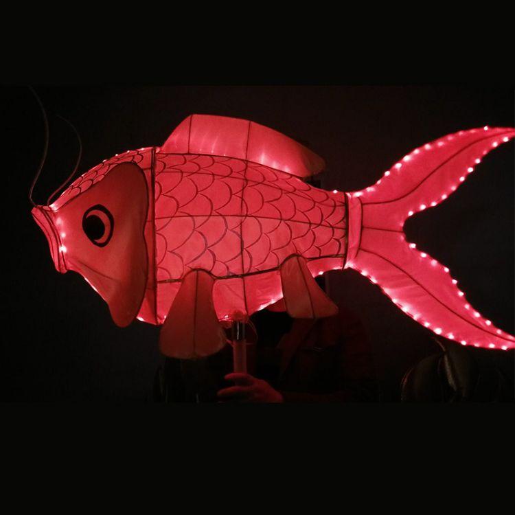 鱼灯虾灯五千年龙灯舞龙舞龙道具民间手工艺节日庆祝表演