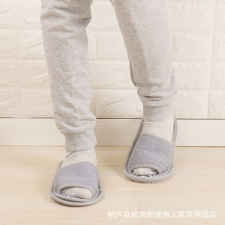 供应出口韩国外贸简约懒人拖地拖鞋 家居擦地板鞋素色可拆卸鞋底