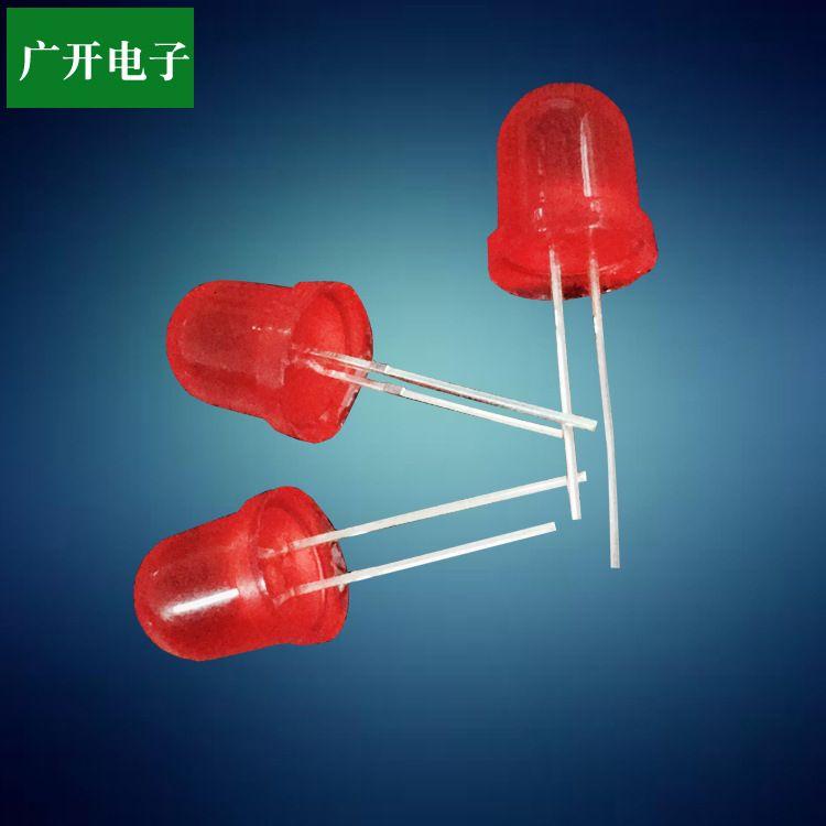 led发光二极管/电子元器件/F4长短脚红发红/ led灯珠定制厂家
