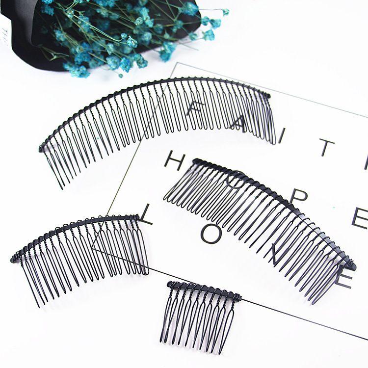 DIY发饰配件20齿扭纹发梳黑色铁丝百变发梳30齿插梳新娘盘发器