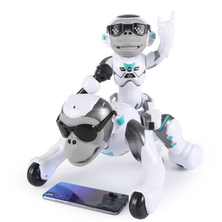 抖音玩具乐能K12智能大歌猩猩 翻跟斗 儿童遥控机器人新奇特玩具