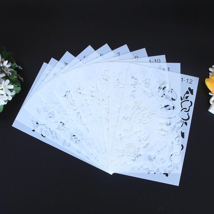 创意PP镂空卡通绘画模板字母镂空绘图工具DIY相册配件绘画板定做