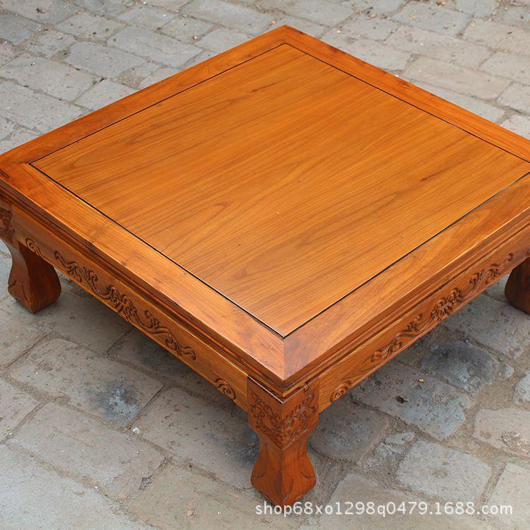 仿古实木炕桌茶台榻榻米桌中式飘窗桌小炕桌茶桌茶几小茶桌 中式