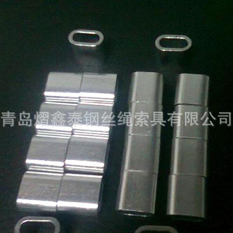 批发定制  钢丝绳八字铝套  圆形铝扣  钢丝绳铝夹头