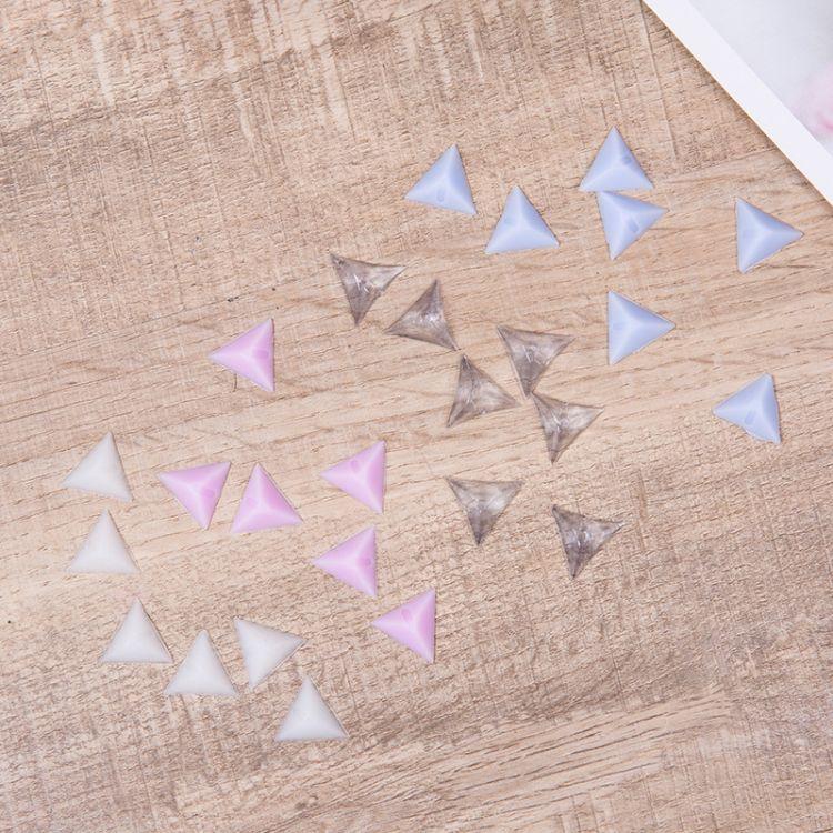 夜光硅胶透明水晶抽屉角落防尘角衣橱家具柜死角防脏三角橡胶粒