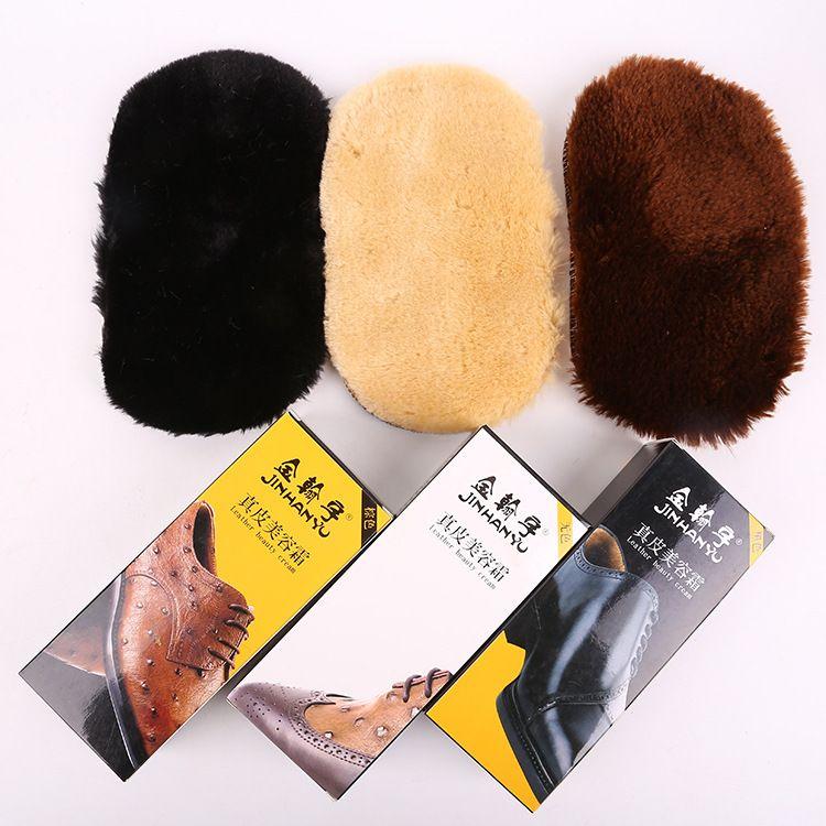 擦鞋手套羊毛绒鞋擦 皮革鞋油 真皮保养油绵羊油辅助用品厂家批