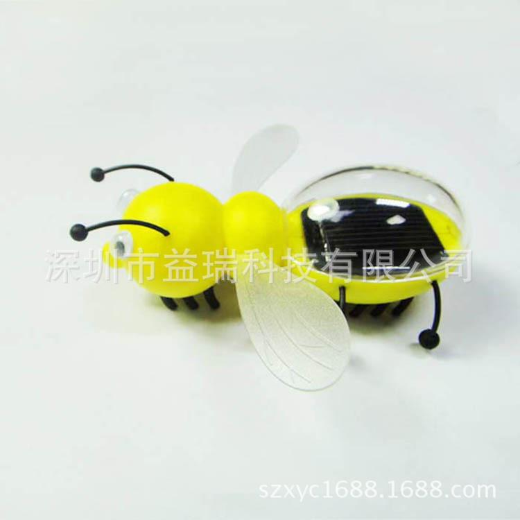 太阳能蜜蜂创意科普教育仿真昆虫玩具礼品送孩子广告礼品厂家直销