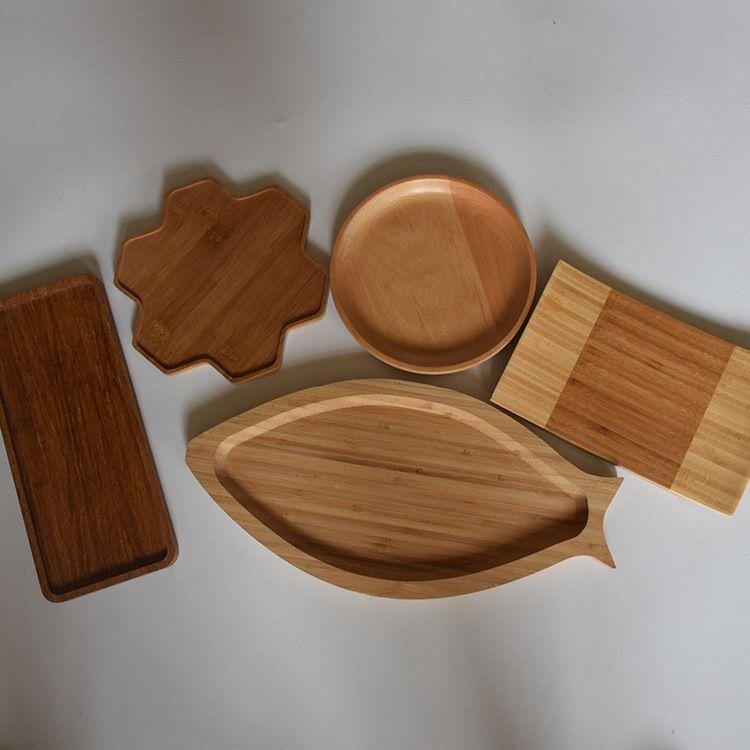 竹木工艺品 木质茶盘 水果盘 水杯垫 竹木制品 厂家直销支持定制