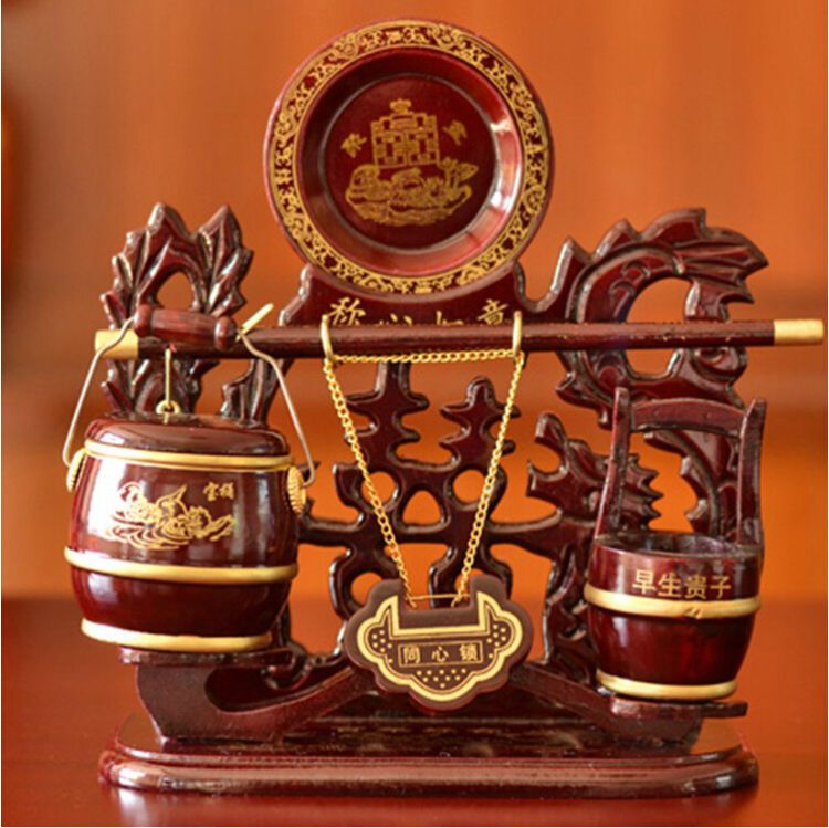 结婚子孙桶结婚礼物实用闺蜜婚庆用品实木婚礼马桶高档红木 大号