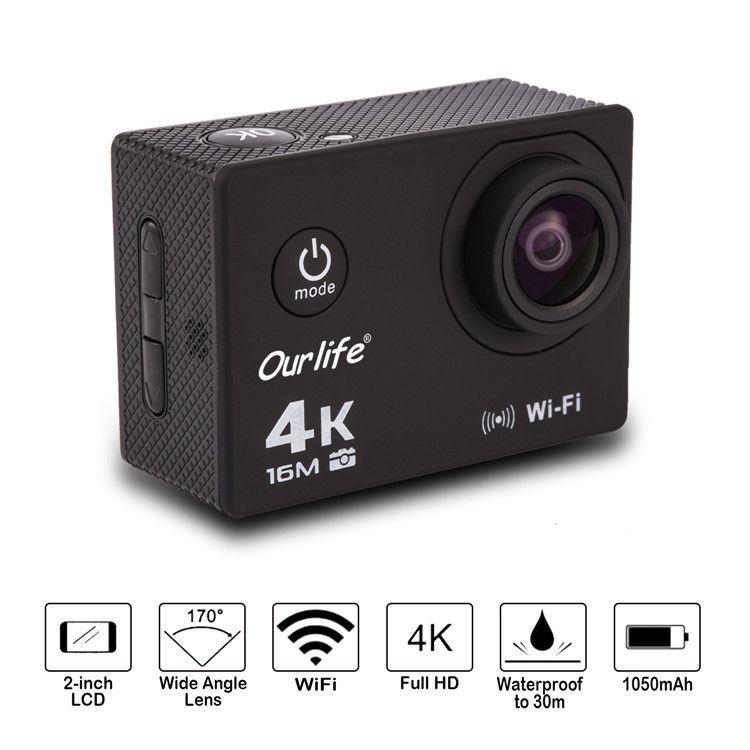 ebay爆款欧莱富/Ourlife运动相机wifi户外防水运动DV无线摄像机