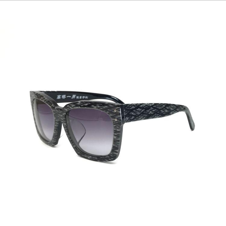 高桥一男品牌太阳镜加厚板材女士眼镜CR39纤维时尚护目镜遮光墨镜
