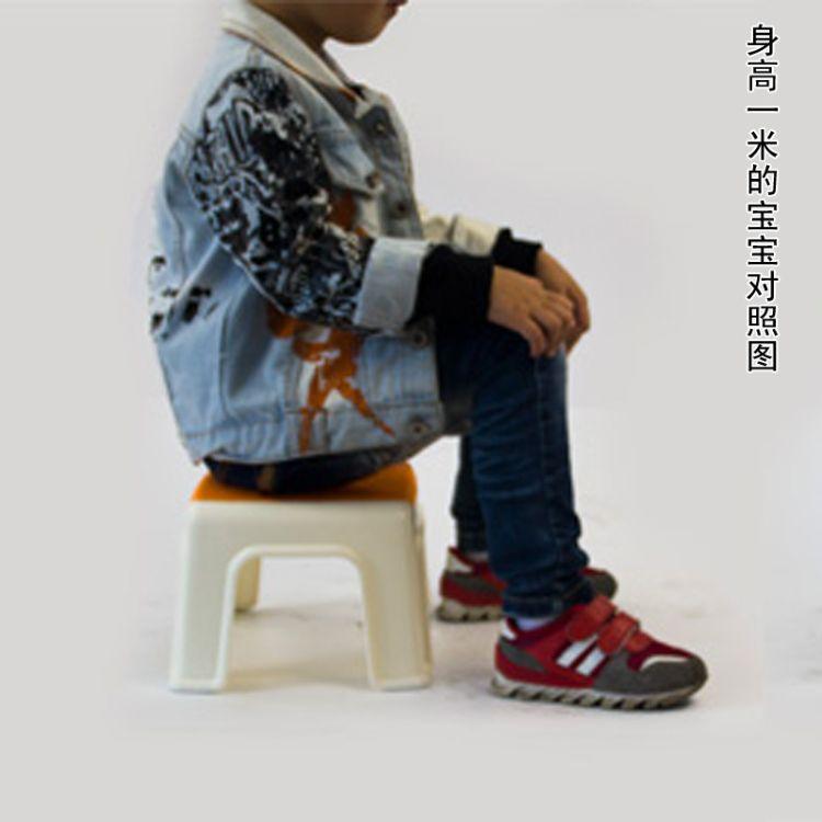 好尔 小号加厚浴室防滑小方凳 时尚换鞋凳 双色宝宝矮凳批发