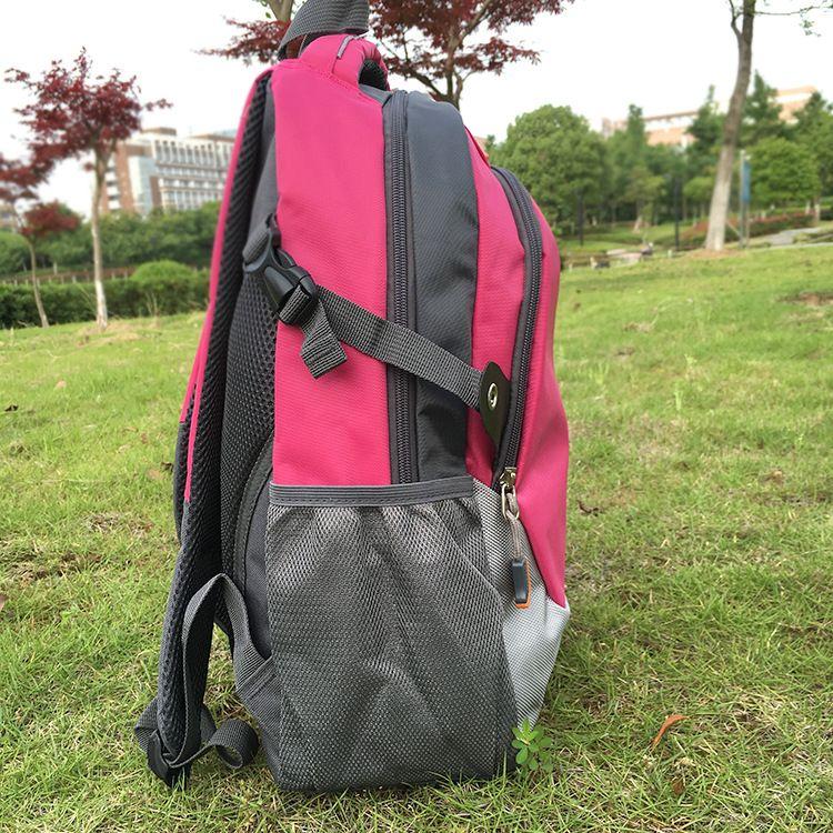 胜明 新款中学生纯色双肩书包 批发定制男式简约学生背包书包