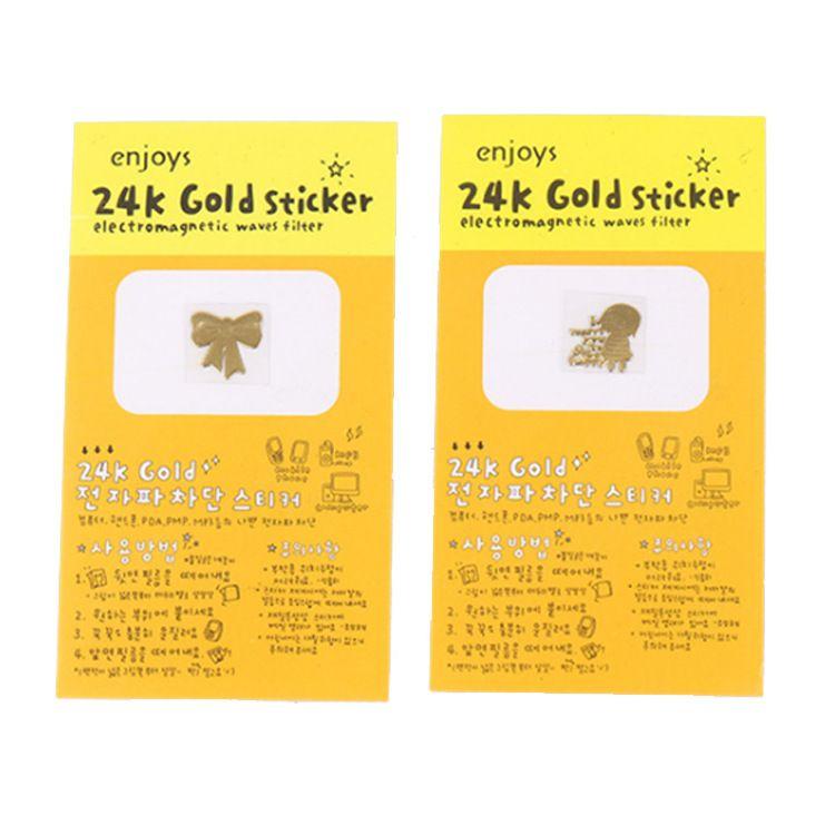 24K镀金手机防辐射贴纸 卡通手机贴纸 辐射贴 淘宝天猫礼品
