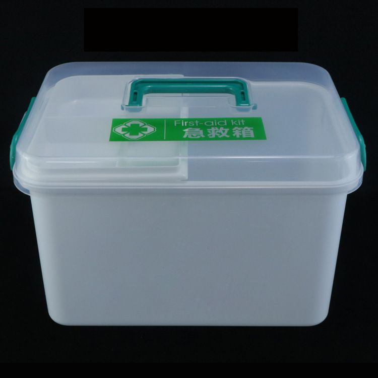 家庭箱急救药品收纳保健箱家用塑料儿童小药箱盒子印刷logo