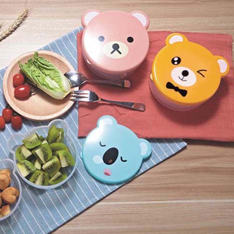 厂家直销儿童饭盒套装 广告赠品LOGO定制 儿童餐具