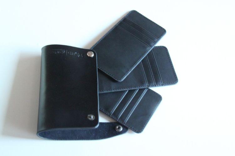 (厂家直销)供应多款精美PU卡包,旋转卡包 名片夹
