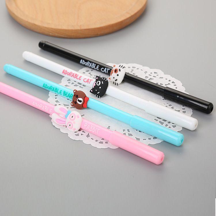 创意笔杆动物中性笔 可爱学生卡通水性笔 学习办公签字笔厂家直销