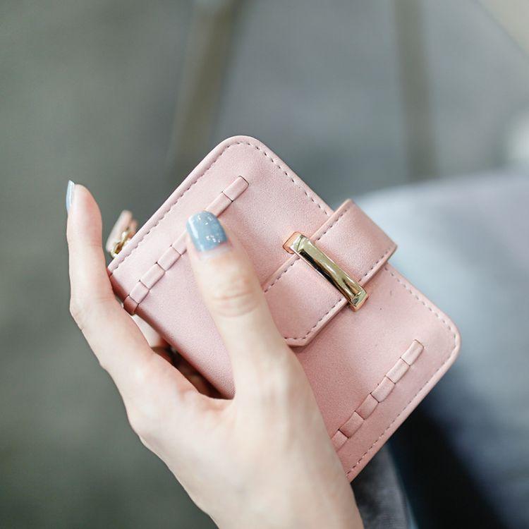 梨花娃娃多功能钥匙包收纳女士韩国可爱简约小巧卡包一体包二合一