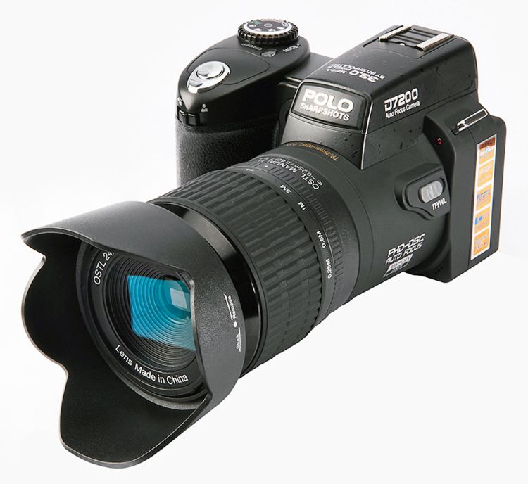 POLO D7200 21倍长焦镜头 微距 高清 数码相机 单反外观摄像机