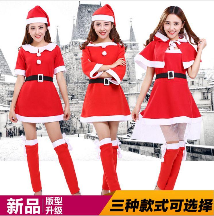 2016新款红色吊带圣诞装圣诞服饰舞台表演制服诱惑ds演出派对装