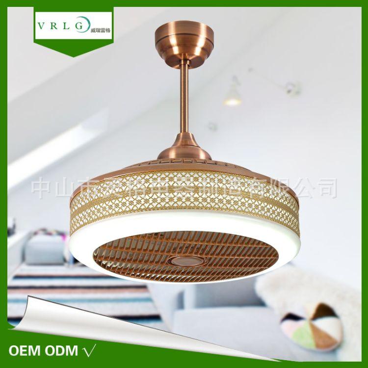 LED风扇灯 遥控电风扇灯家居装饰吊扇灯客厅卧室餐厅吊灯