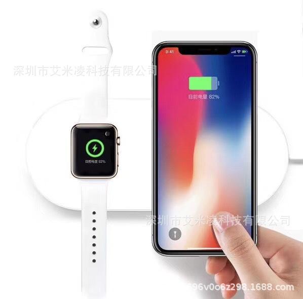 新款 iWatch手表无线充电器二合一 适用于iPhone X手机7.5w无线充