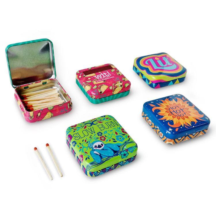精美马口铁盒包装火柴 可印刷LOGO 出口火柴礼品