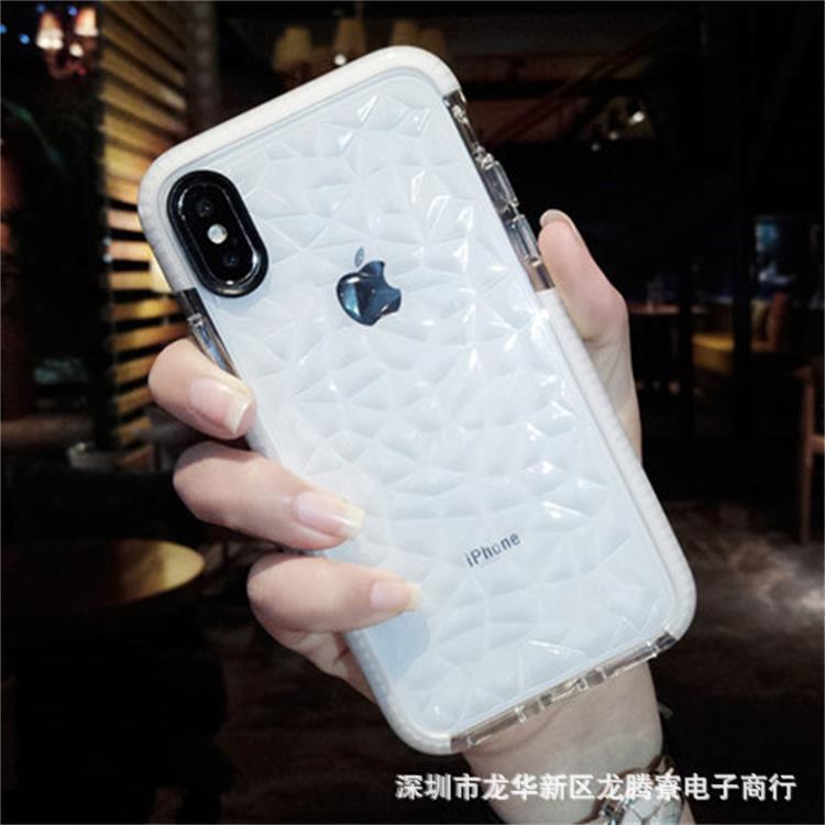 适用iphoneX手机壳苹果6/7/8plus防摔TPU oppoR15透明手机壳X21
