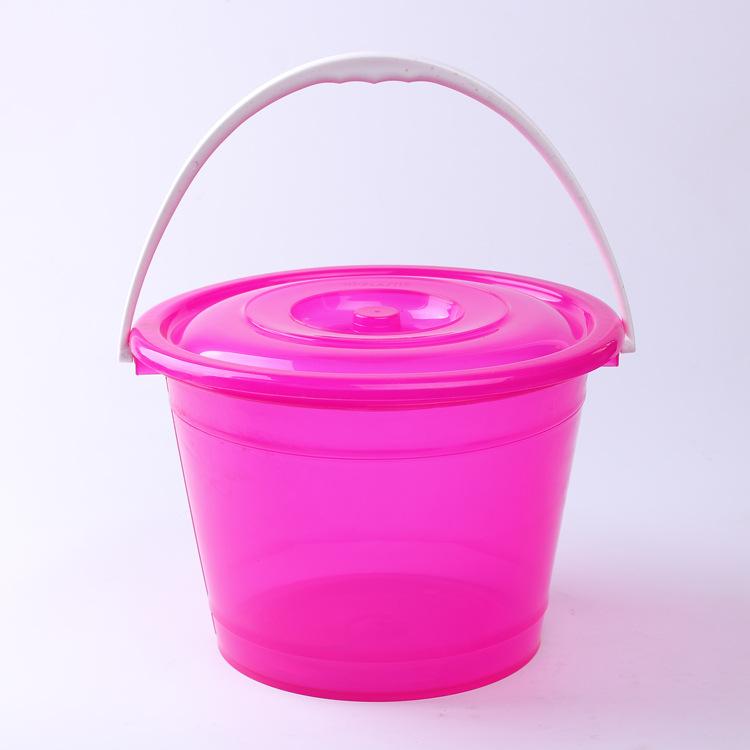 手提桶 家用圆形带盖小水桶加厚耐用塑料储水桶日用百货厂家直销