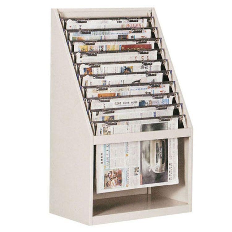 钢制十层斜报架报刊资料柜报纸杂志架金属书报展示架定做图书架