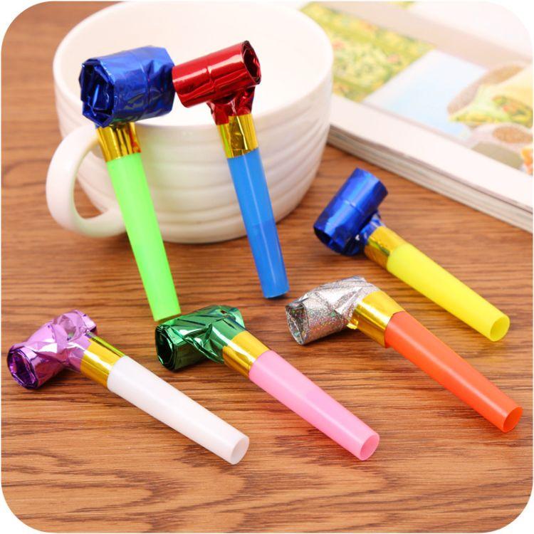 七彩吹龙口哨产地货源生日派对助威道具小礼品创意小玩具厂家直销