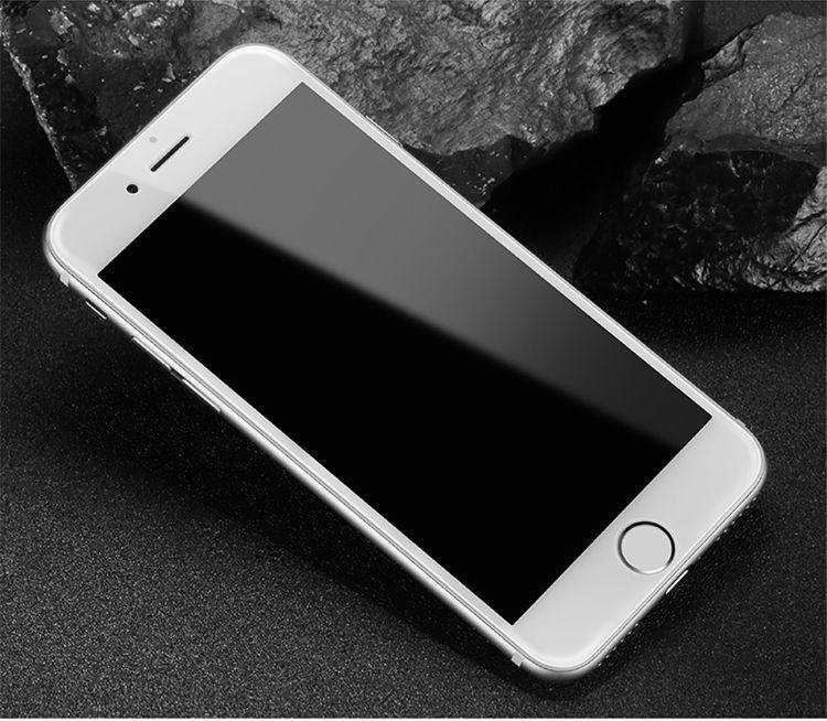 iPhone8钢化玻璃膜5D苹果6plus手机钢化膜保护膜不易碎边防指纹