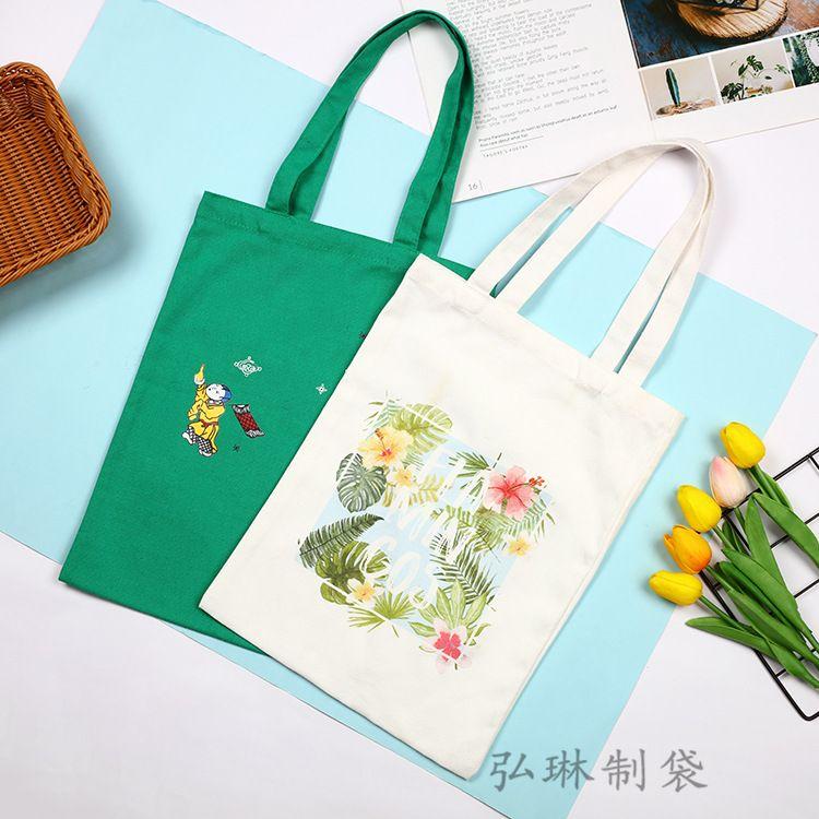 热销新品韩版森女系印花图案帆布包手提式购物袋可定制厂家直销