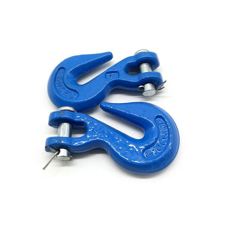 规格齐全 1T-12.5T羊角吊钩 链条安全弹簧钩 吊装索具配件批发