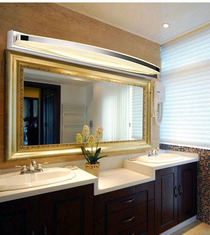 LED简约现代时尚柜灯浴室壁灯不锈钢卫生间灯饰化妆壁灯具镜前灯