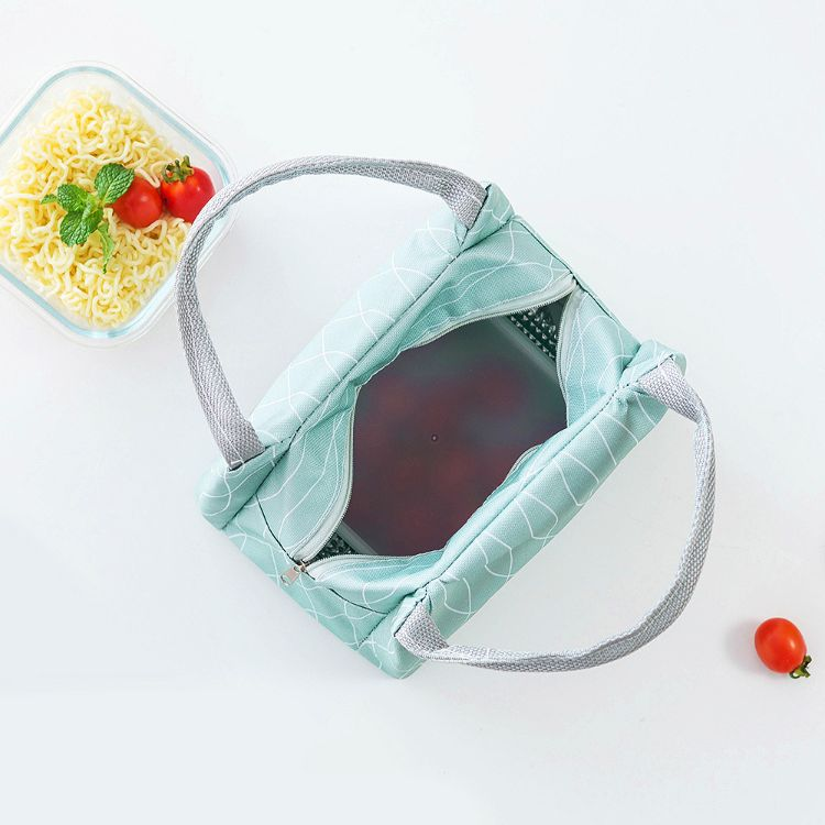 联诚新款万物生拉链饭盒袋保温包 户外野餐手提午餐包保鲜冰包