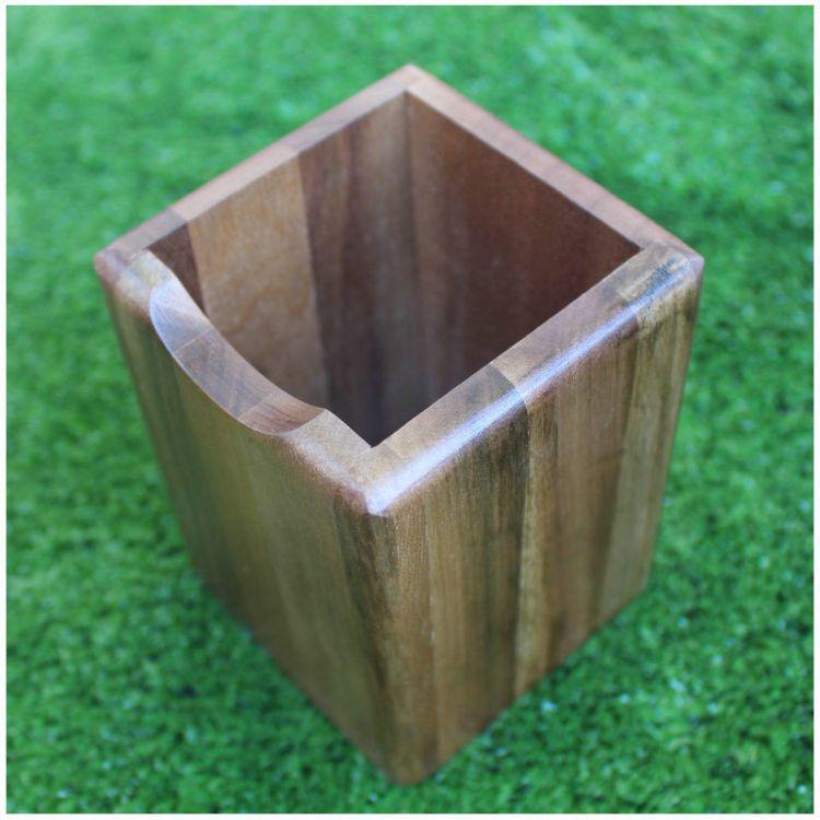 创意木质笔筒 原木色木笔筒 新奇特文具