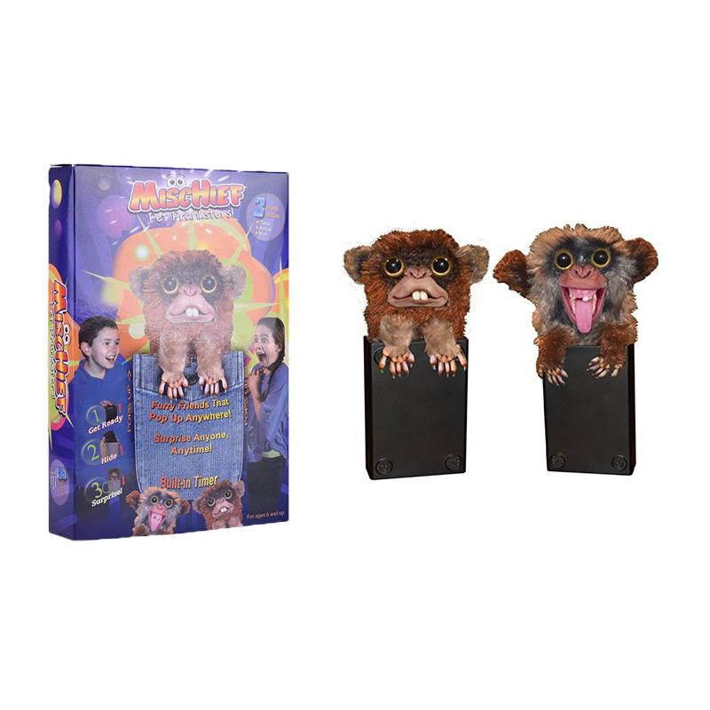 跨境专供+爆款整蛊猴子玩具恶作剧魔怪猴Sneekums Prankster