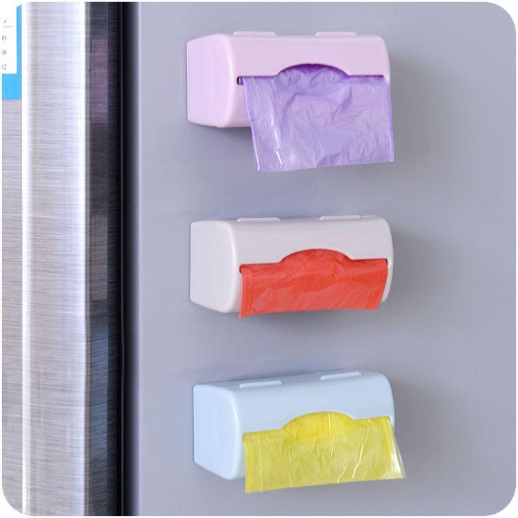 炫彩壁挂式垃圾袋整理收纳盒厨房塑料袋抽取盒储物盒迷你盒子