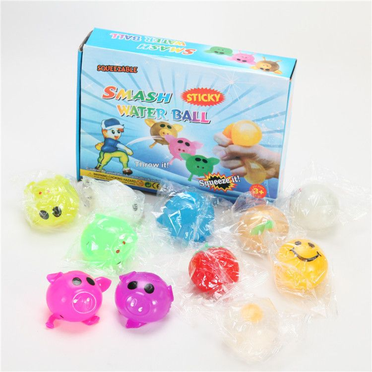 义乌货源新款创意款发泄球 无聊神器解压神器抖音玩具公仔捏捏乐